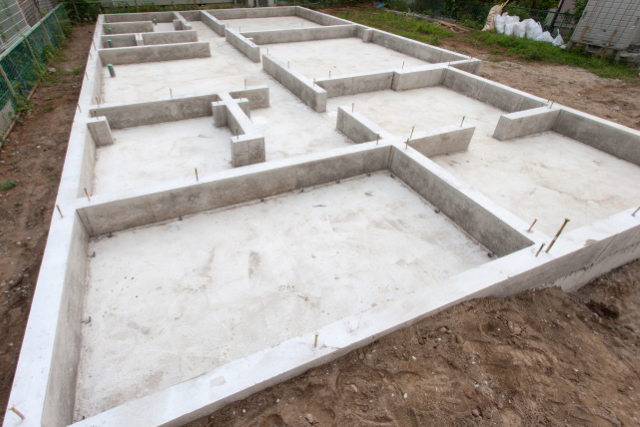 New Construction Home Foundation fully settled in Hillsboro OR