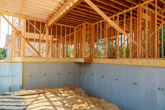 Hillsboro Cement Block Foundation in a New Construction Home